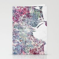dublin Stationery Cards featuring Dublin by MapMapMaps.Watercolors