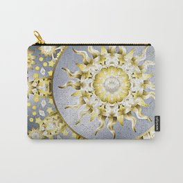 Golden Moon and Sun Carry-All Pouch