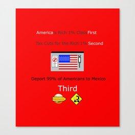 America FIrst Canvas Print