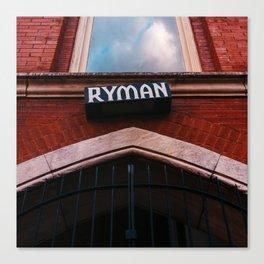 The Ryman Canvas Print