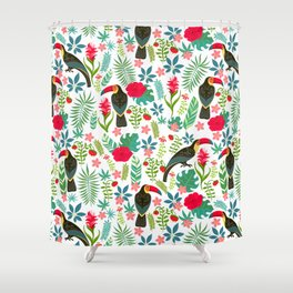 Floral Toucan Shower Curtain