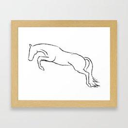 Hunter Outline Framed Art Print