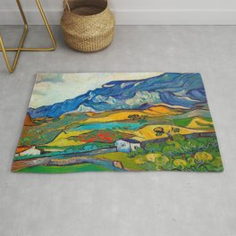 Les Alpilles, Mountain Landscape near South Reme Vincent van Gogh 1889 Rug