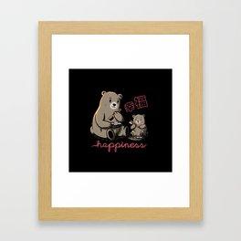 Happiness Sushi Framed Art Print