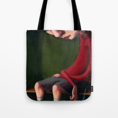 Girl in the Box Tote Bag