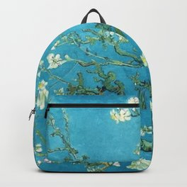 Vincent van Gogh Blossoming Almond Tree (Almond Blossoms) Light Blue Backpack
