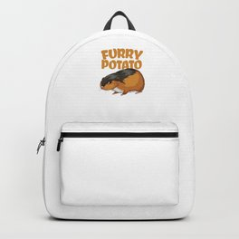 Furry Potato Baby Hamster Rodents Wild Animals Domestic Pet Lovers Gifts Backpack