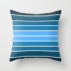 Teal Ombre Stripes Throw Pillow
