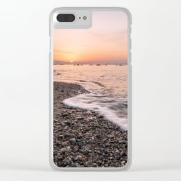 Last rays of light at sunset Clear iPhone Case