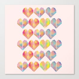 pastel heart Canvas Print