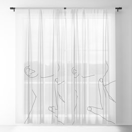 Minimal figure illustration - Alexis Sheer Curtain