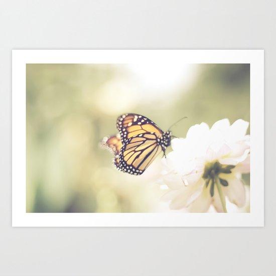 Love of a butterfly Art Print