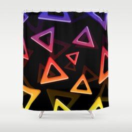 80's Triangles Shower Curtain