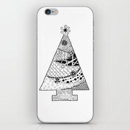 Doodle Christmas Tree iPhone Skin