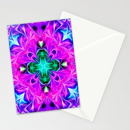 Purple Dynamic Energy Stationery Cards