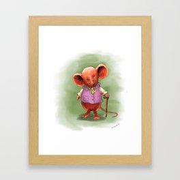 Wealthy Mouse Framed Art Print