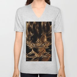 Dragon Ball Vegeta Artistic Illustration Energy Style Unisex V-Neck