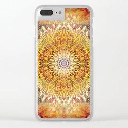 Cygnus Cosmic Mandala Clear iPhone Case