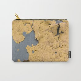 Flaked yellow paint on green surface Carry-All Pouch