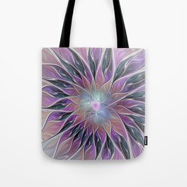 Fantasy Flower, Colorful Abstract Fractal Art Tote Bag