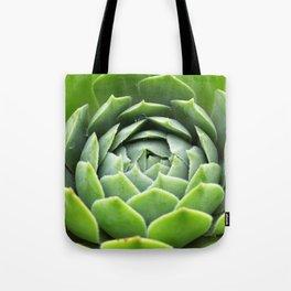 Sempervivum Grüne Rose Tote Bag