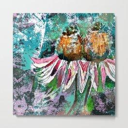 Emerging Cone Flower Metal Print