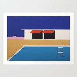 Palm Springs Pool House II Art Print