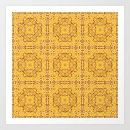 Yellow ornament Art Print