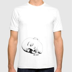 Mr. Lazy Mens Fitted Tee White MEDIUM