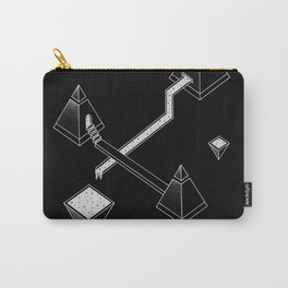 Black Space Pyramids Carry-All Pouch