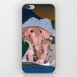 Hippo Rain iPhone Skin