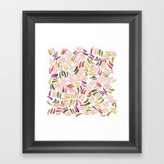 Scratches Framed Art Print