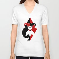 harley quinn V-neck T-shirts featuring Harley Quinn by EmeraldSora