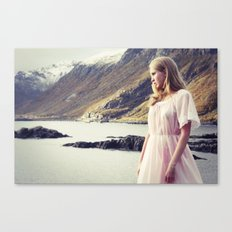 The Young Girl and the Sea Canvas Print