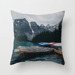 Moonlit Moraine Throw Pillow