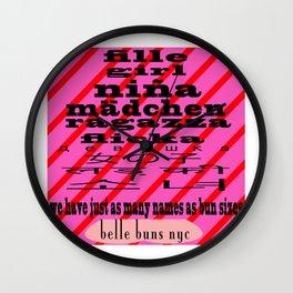 bbnyc female translation 2 Wall Clock