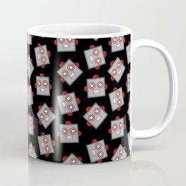 Retro Robot Heads Coffee Mug