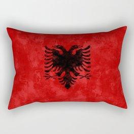 Albania Flag Grunge Rectangular Pillow