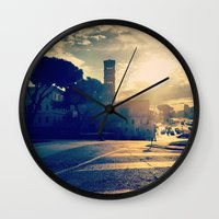 rome Wall Clocks featuring rome by xp4nder