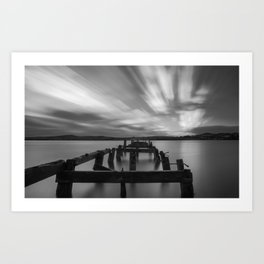 Long exposure of Lough Swilly and Fahan Pier Art Print