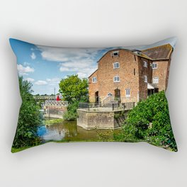 The Abbey Mill At Tewkebury Rectangular Pillow