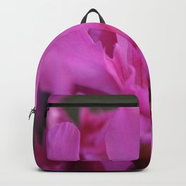 Pink Oleander Flower With Green Leaves in the Background Backpack