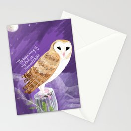 Totem barn owl bird of the year Stationery Cards