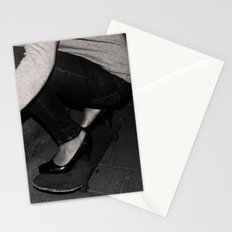 skateboarding girl Stationery Cards