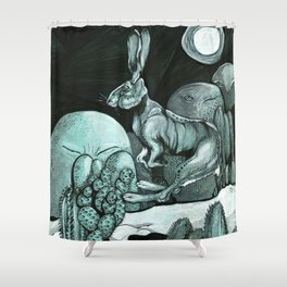Jackrabbit Brings the News Shower Curtain