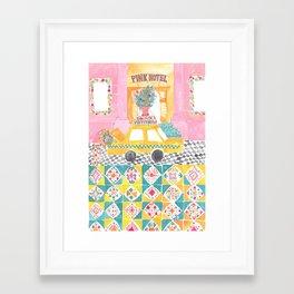 Big Yellow Taxi Framed Art Print
