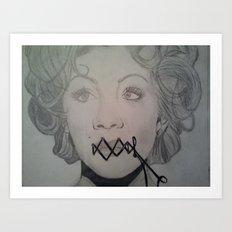 Wired Shut Art Print
