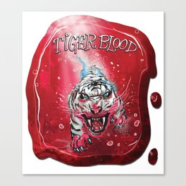 TigerBlood Tiger-Dive by Spysee Canvas Print