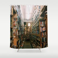 books Shower Curtains featuring Books by Brianne Daigle