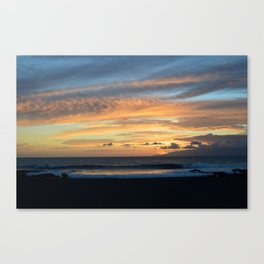 The very black sand. Canvas Print